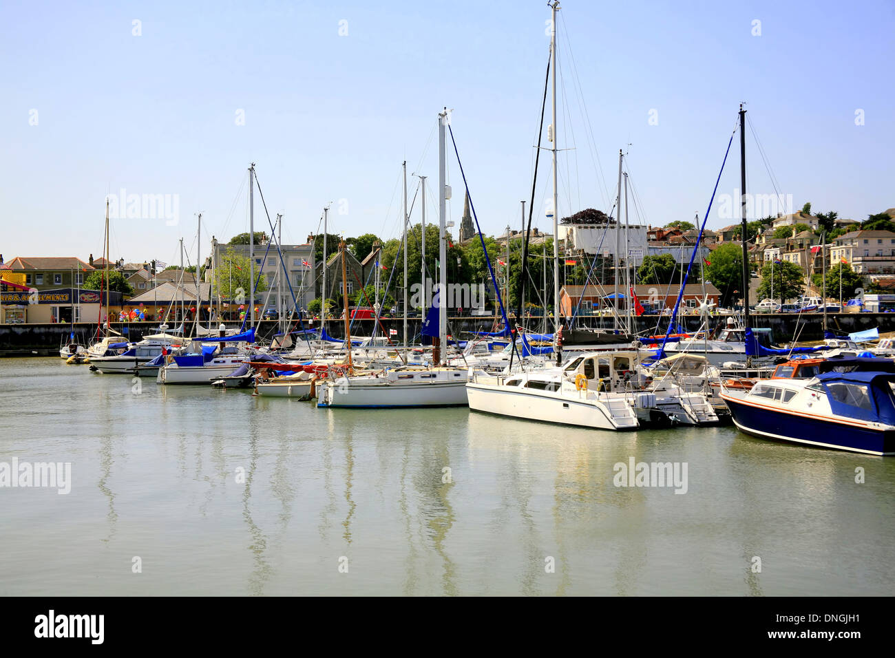 The Harbor at Ryde, Isle of Wight, England, UK - Stock Image