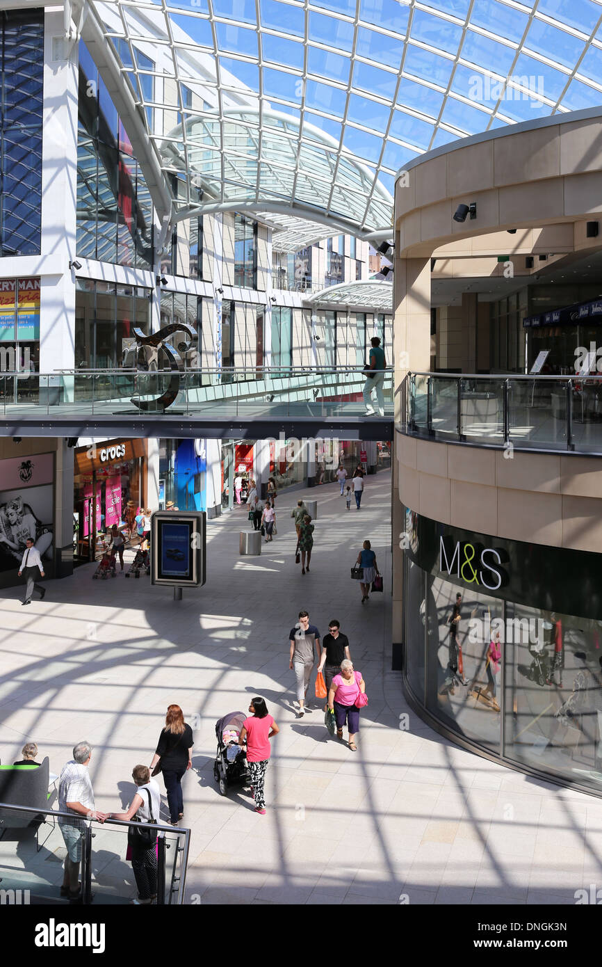 Interior of Trinity Leeds Shopping Centre - Stock Image