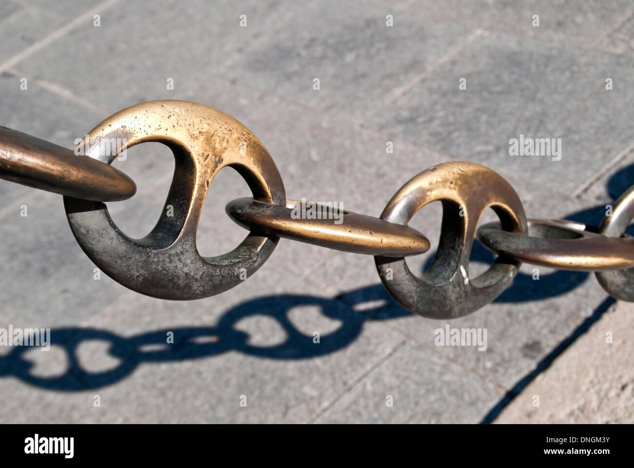 Chain, protected area - Stock Image