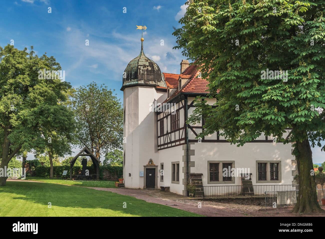 Summer residence Castle Hoflössnitz is a building in the wine-growing area in Radebeul near Dresden, Saxony, Germany, Europe - Stock Image