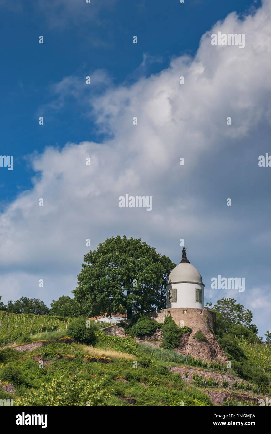 The Jacobstein is a vineyard gazebo in Radebeul near Dresden, Saxony, Germany, Europe Stock Photo