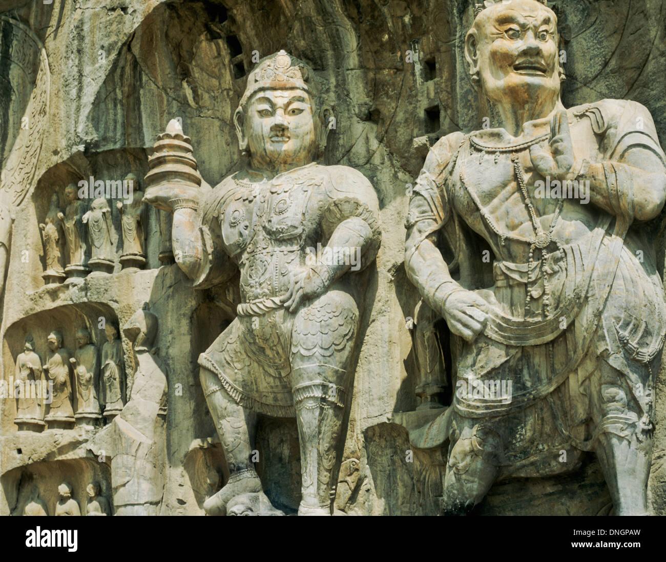 Detail of the Longmen Grottoes, Luoyang, Henan, China - Stock Image