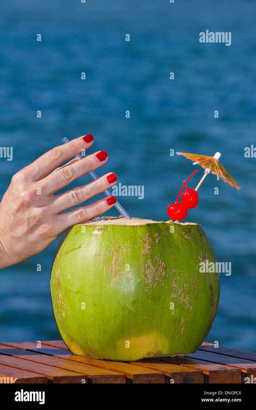 Young Coconut Rum Drink
