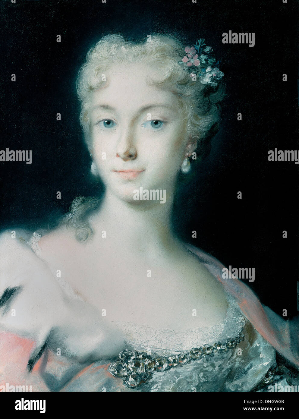 Rosalba Carriera, Maria Theresa, Archduchess of Habsburg 1730 Pastel on paper. Gemaldegalerie Alte Meister, Dresden, Germany. - Stock Image