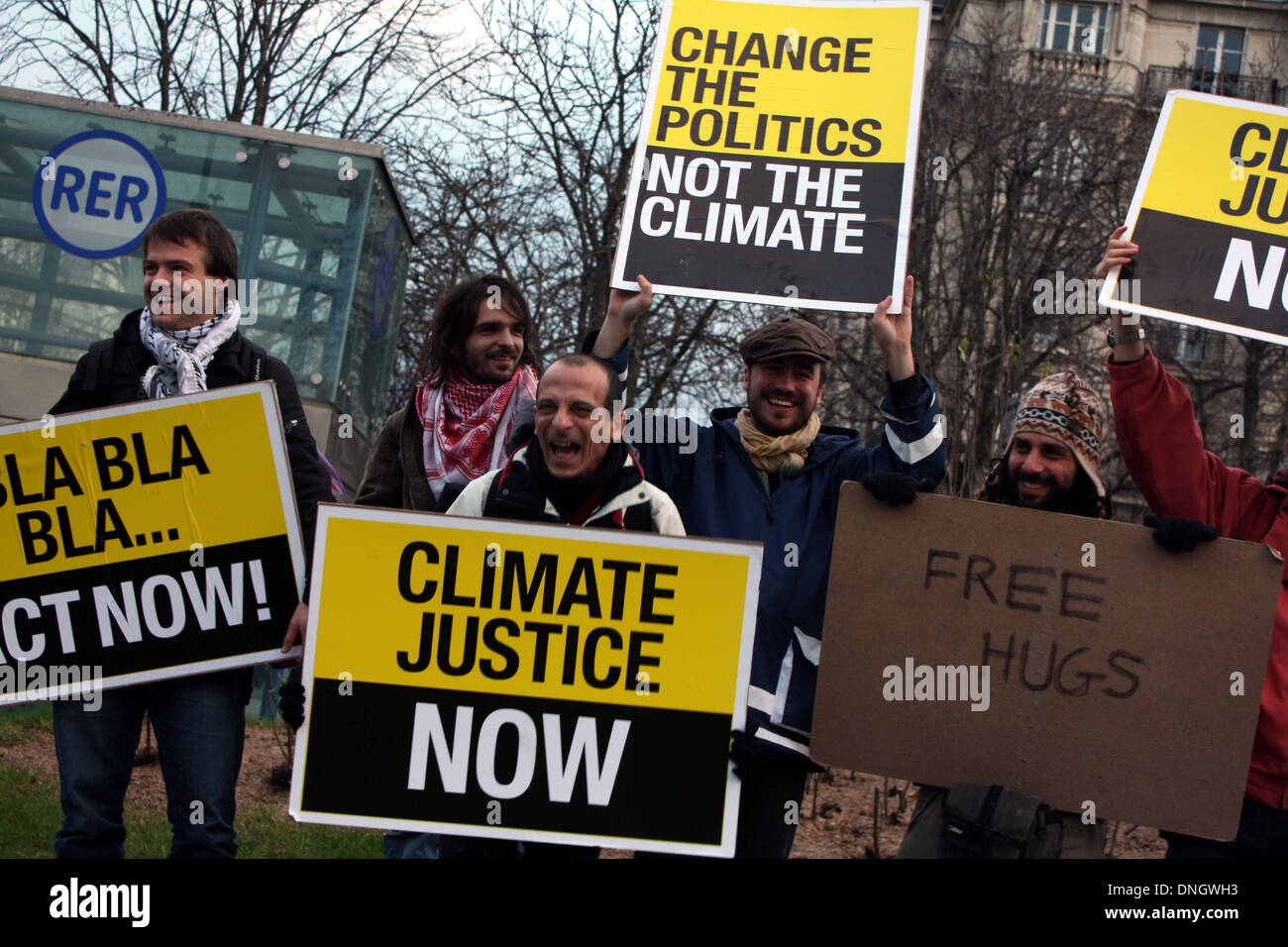 Demonstration against the environmental and ecological summit of Copenhagen, december 2009, Denmark. - Stock Image