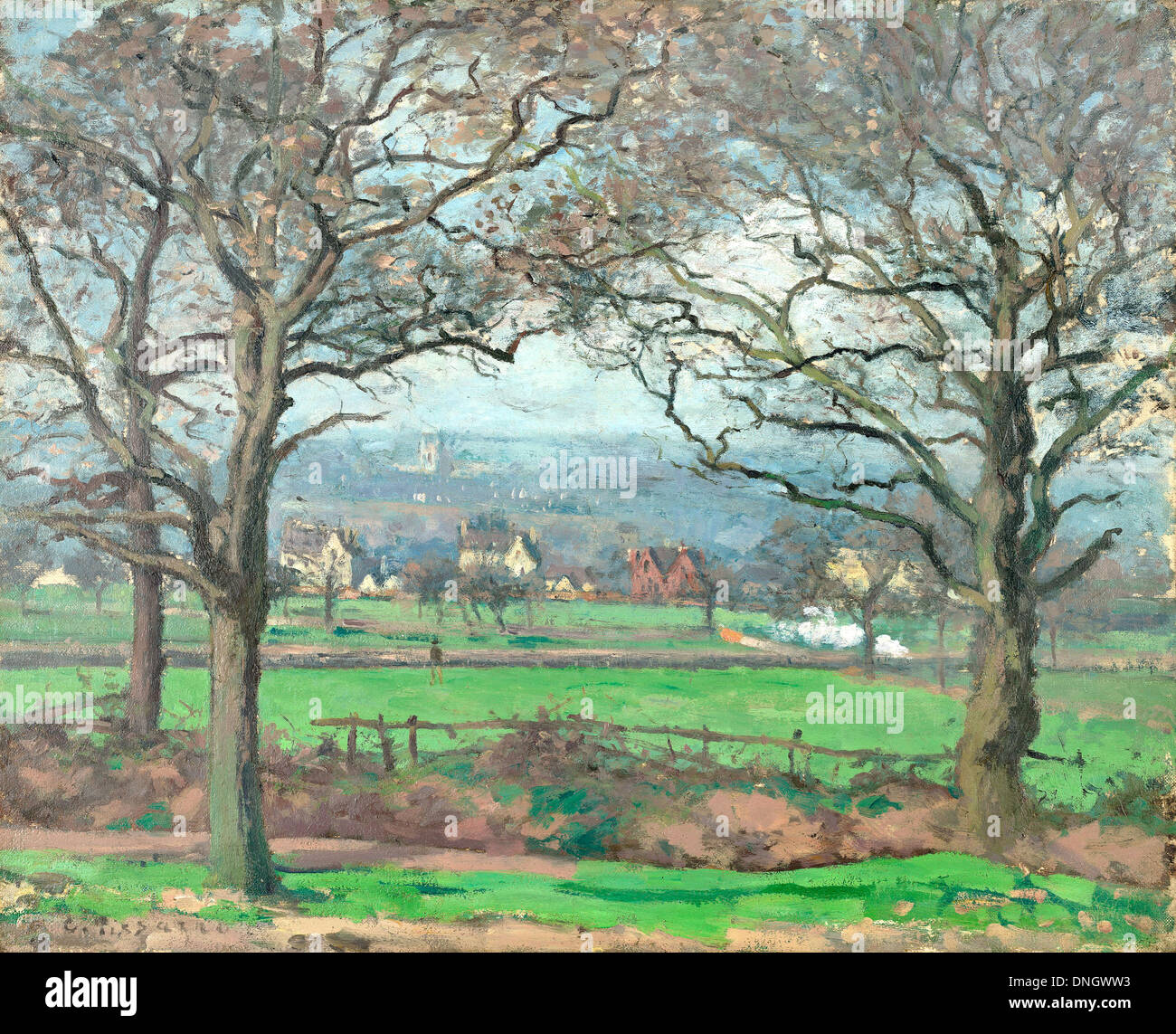 Camille Pissarro, Near Sydenham Hill 1871 Oil on canvas. Kimbell Art Museum, Fort Worth, Texas, USA. - Stock Image