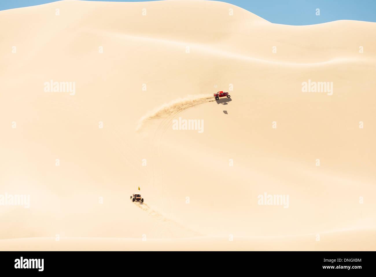Buggy in the Dumont dunes - Stock Image