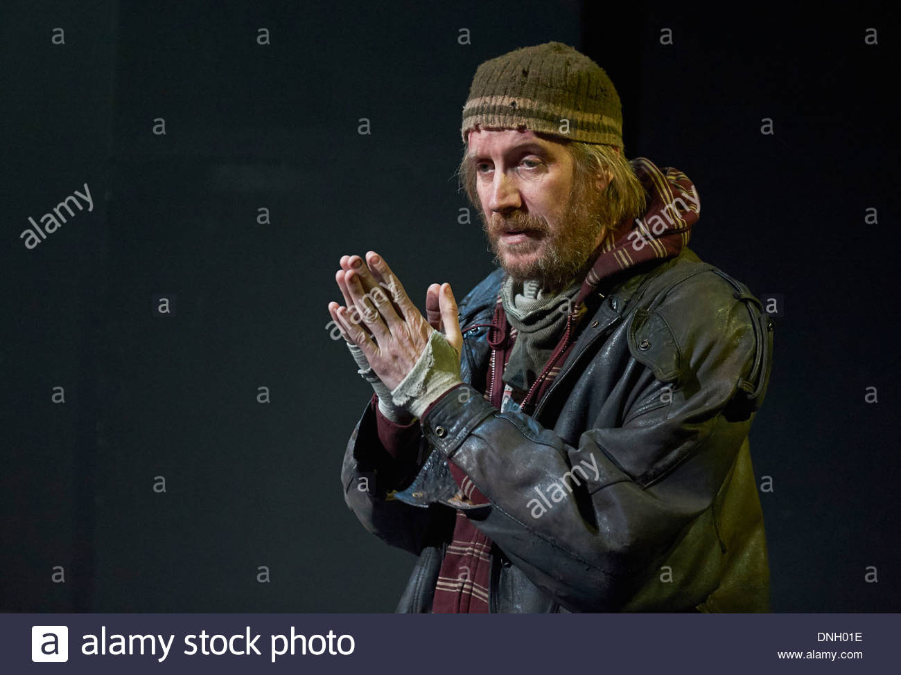 Protest Song by Tim Rice, directed by Polly Findlay. With Rhys Ifans as Danny. Opens at The Shed at The Royal National Theatre - Stock Image