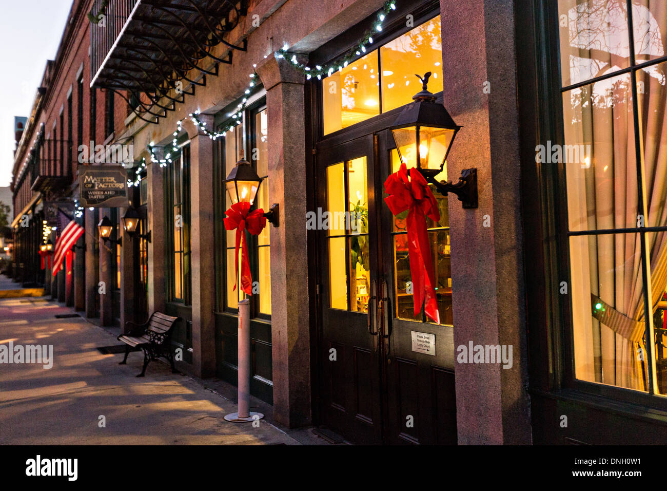 Christmas Lights In Savannah Ga.Christmas Lights Decorate The Riverfront In Historic