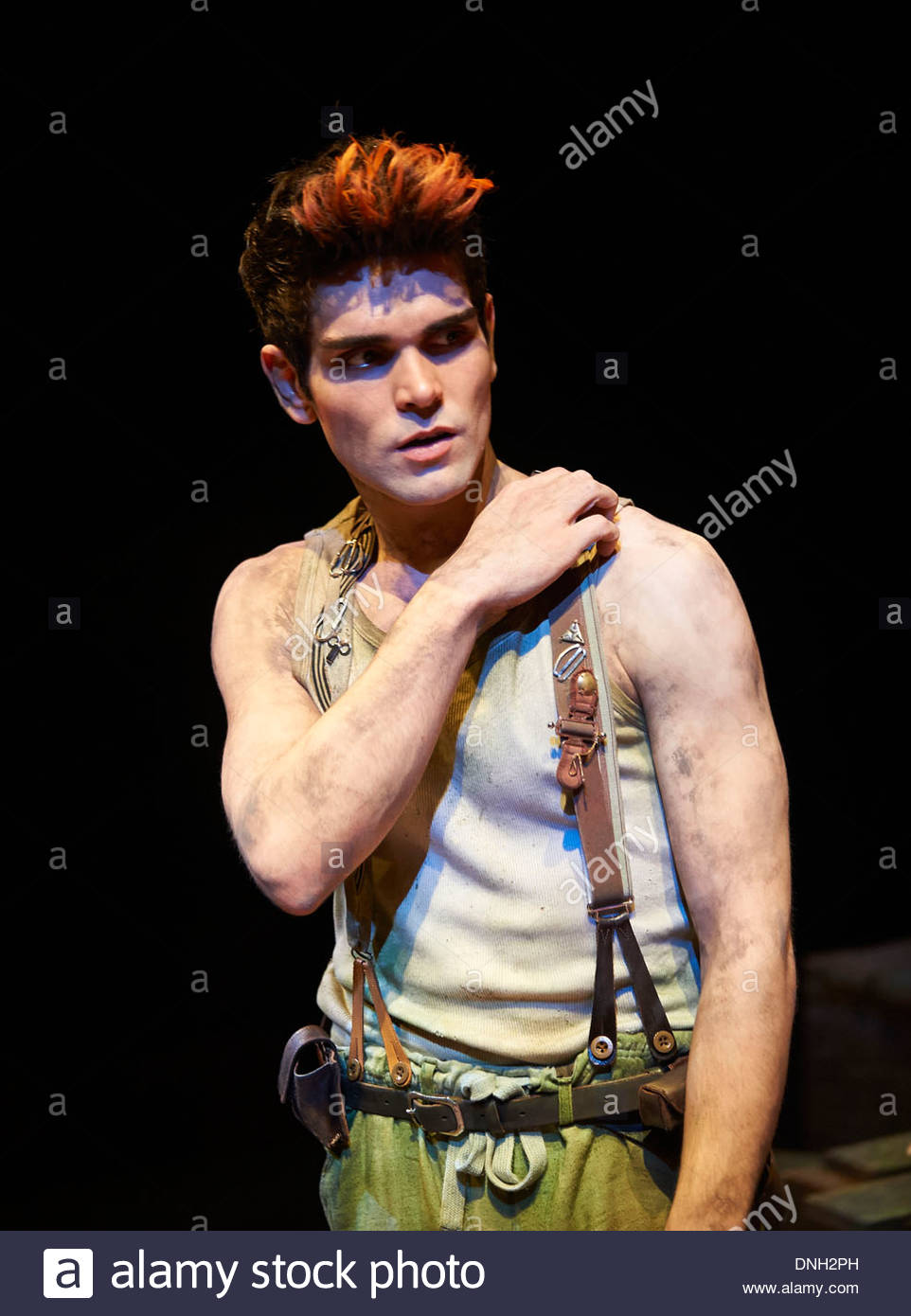 Wendy and Peter Pan by Ella Hickson, adapted from the novel by J M Barrie. A Royal Shakespeare Company Production directed by Jonathan Mundy. With Sam Swann as Peter. Opens at The Royal Shakespeare Theatre , Stratford Upon Avon on 18/12/13 - Stock Image