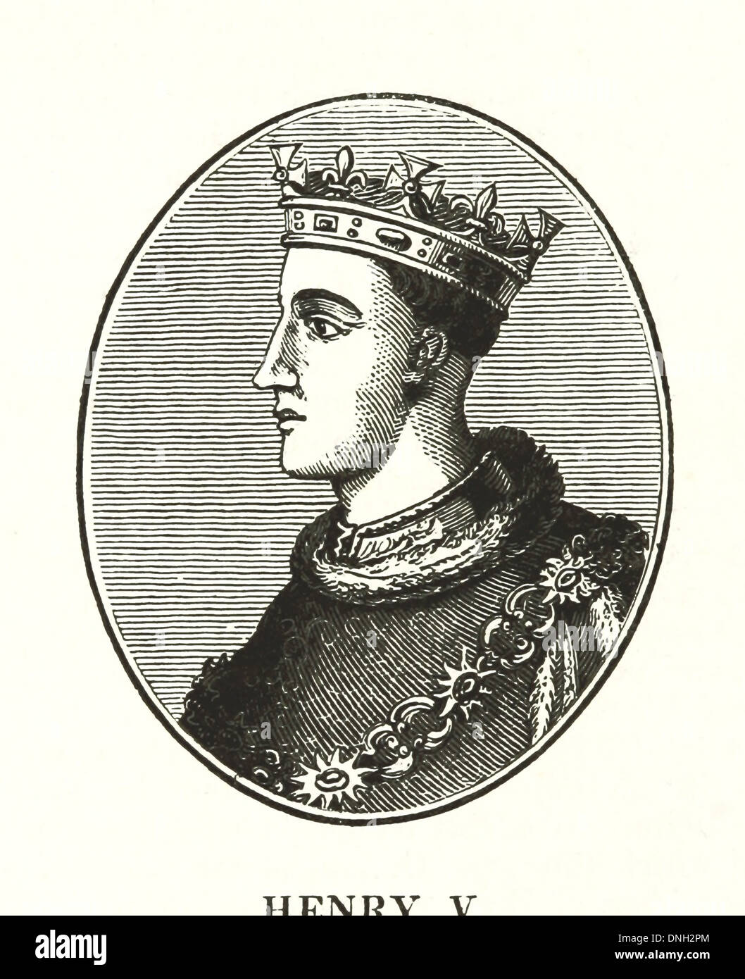 Henry V (16 September 1386 – 31 August 1422) - King of England from 1413 until his death - Stock Image