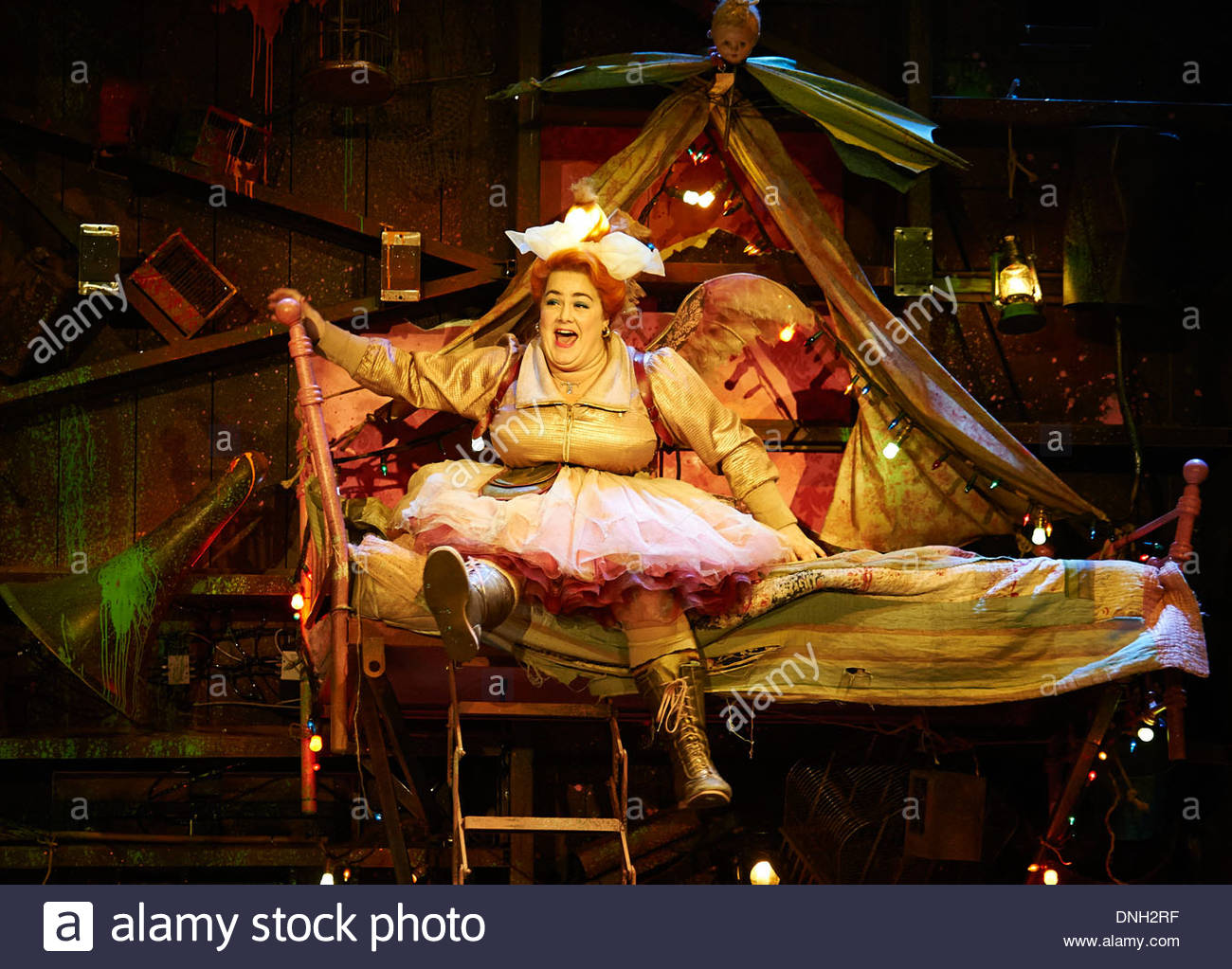 Wendy and Peter Pan by Ella Hickson, adapted from the novel by J M Barrie. A Royal Shakespeare Company Production directed by Jonathan Mundy. With Charlotte Mills as Tink. Opens at The Royal Shakespeare Theatre , Stratford Upon Avon on 18/12/13 - Stock Image