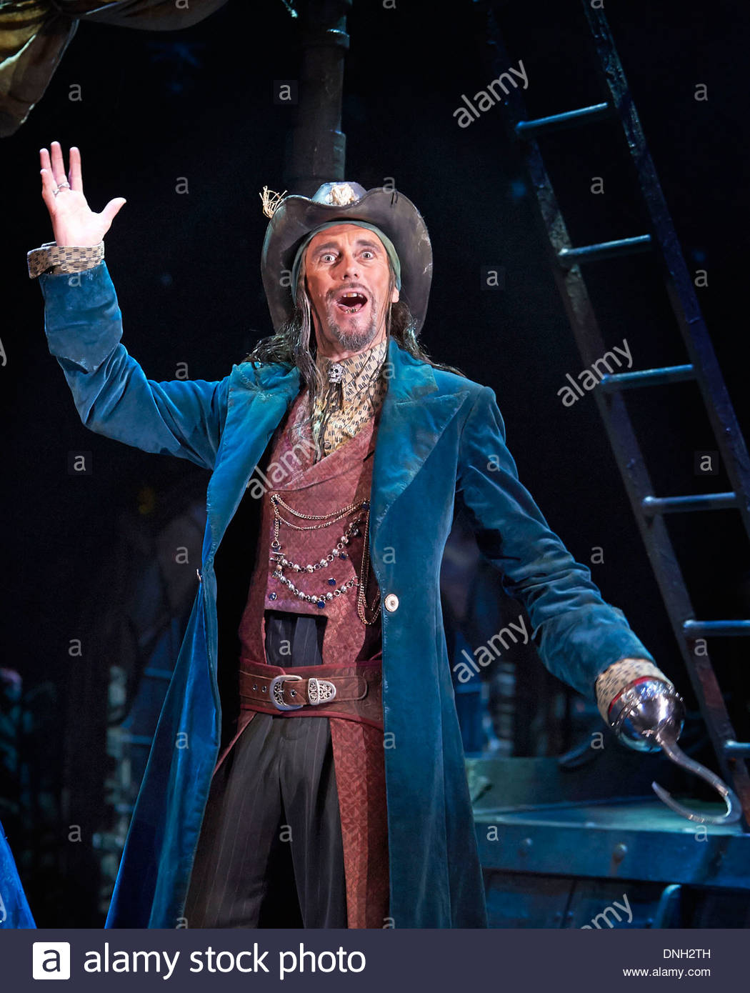 Wendy and Peter Pan by Ella Hickson, adapted from the novel by J M Barrie. A Royal Shakespeare Company Production directed by Jonathan Mundy. With Guy Henry as Hook. Opens at The Royal Shakespeare Theatre , Stratford Upon Avon on 18/12/13 - Stock Image