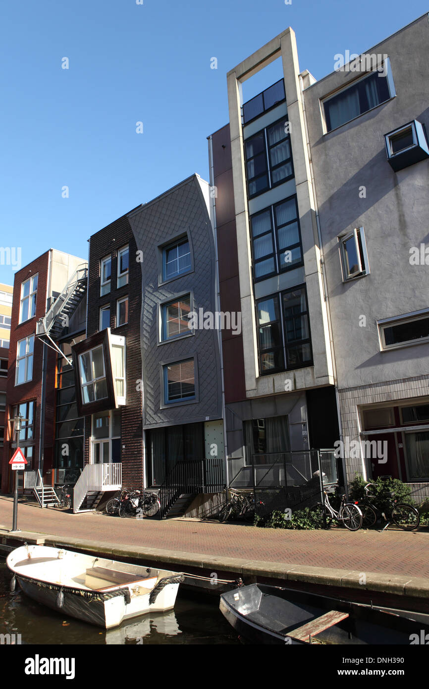 Contemporary building facades on Java Island (Java Island) in Amsterdam, Netherlands. - Stock Image