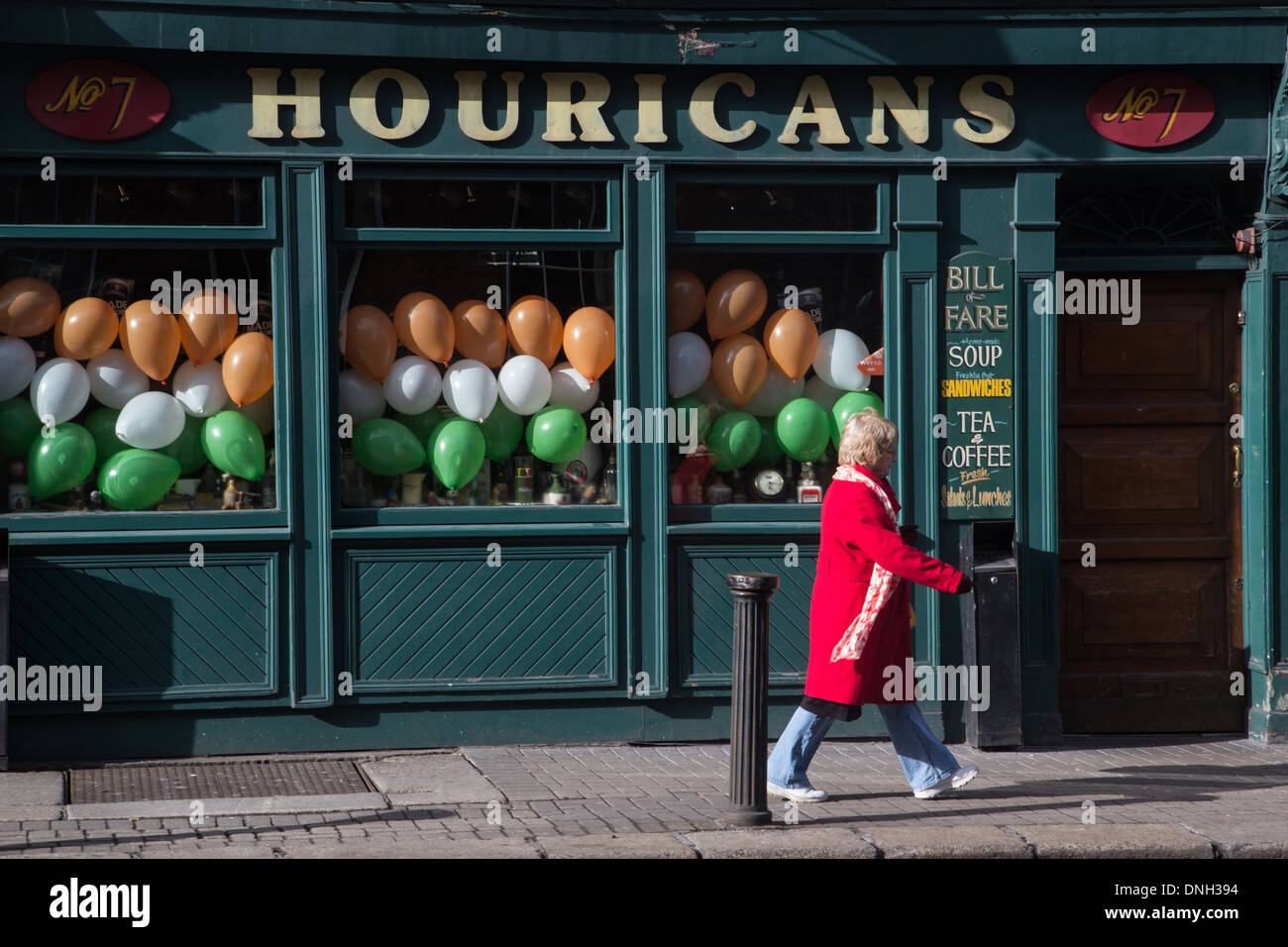 HOURICANS BAR, LOWER LESSON STREET, DUBLIN, IRELAND - Stock Image