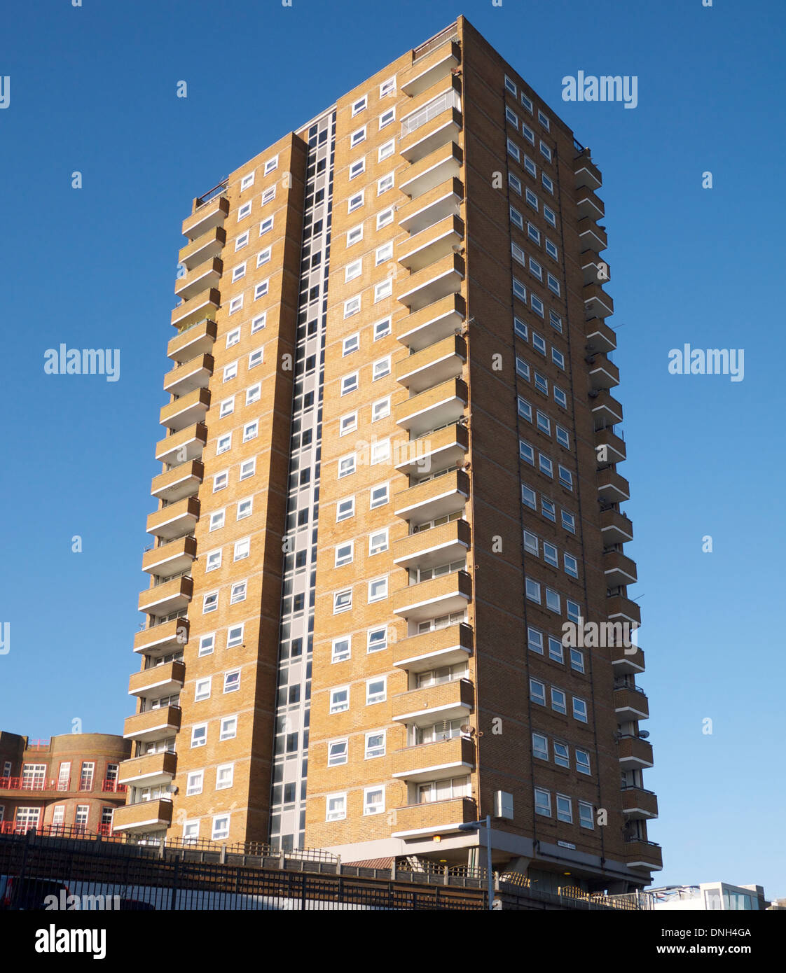 Theobald House 22 storey residential tower block Blackman Street. 63 metres tall - Stock Image