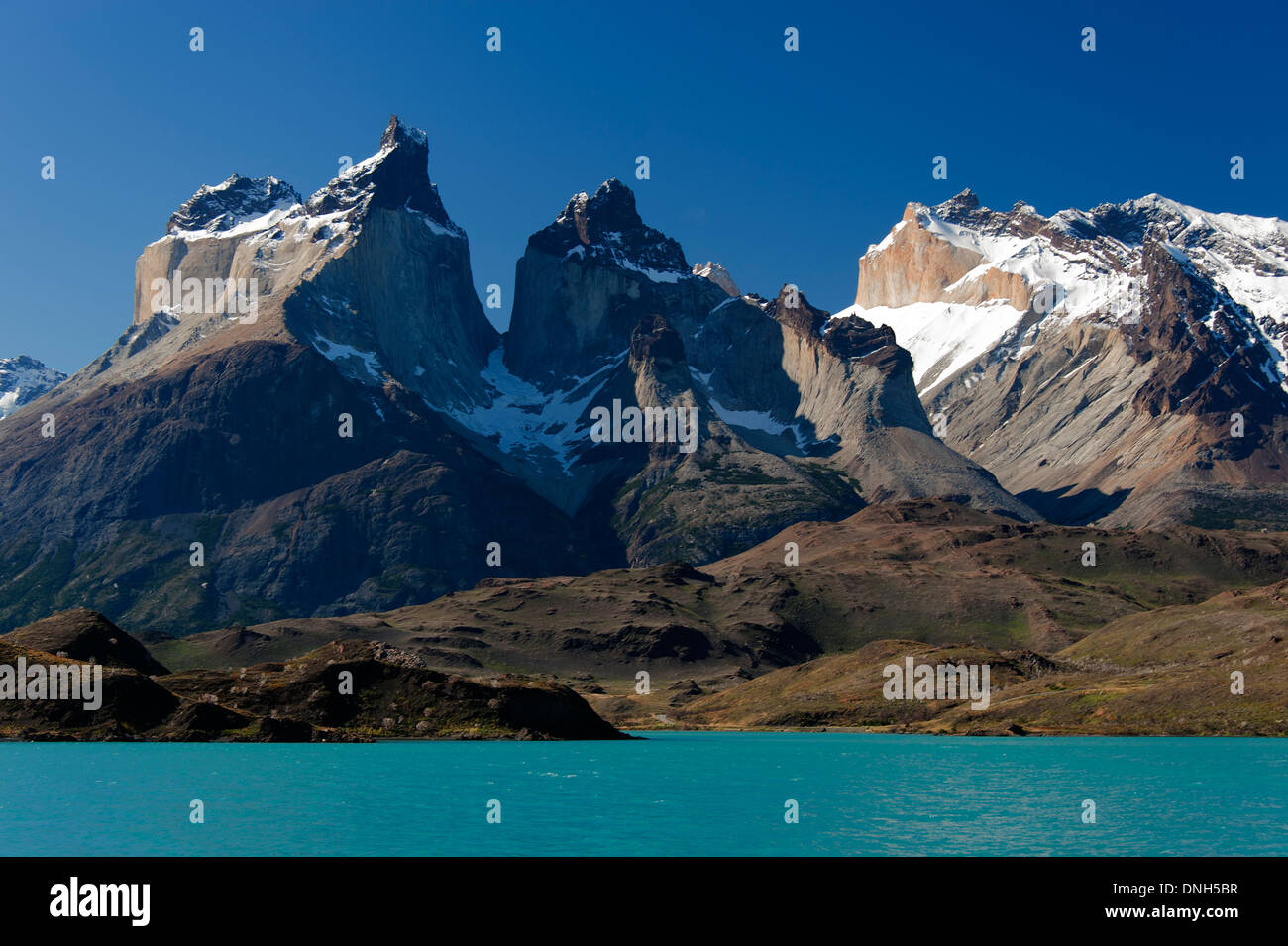 Los Cuernos massif in Torrel del Paine national park, Chile - Stock Image