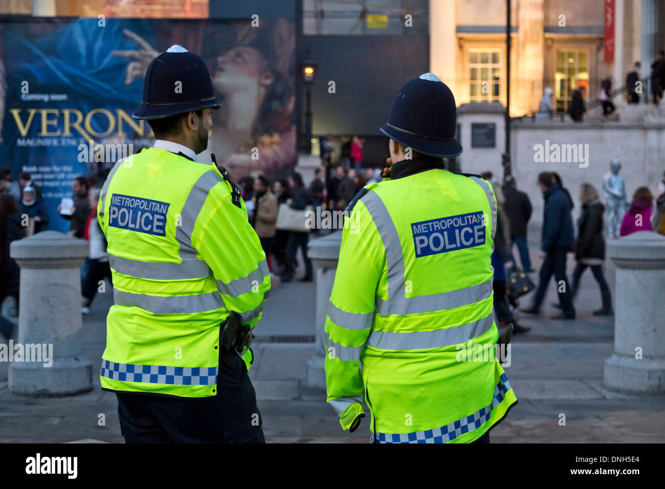 Metropolitan Police officers patrolling the streets of London, England - Stock Image