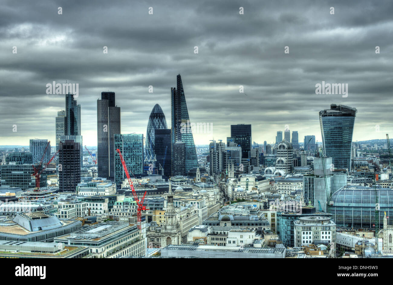 A view of City of London  City of London skyline  skyscrapers city of london - Stock Image