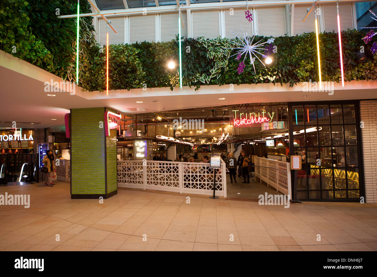 Trinity Kitchen at Trinity Leeds, a shopping and leisure centre in Leeds, England, - Stock Image