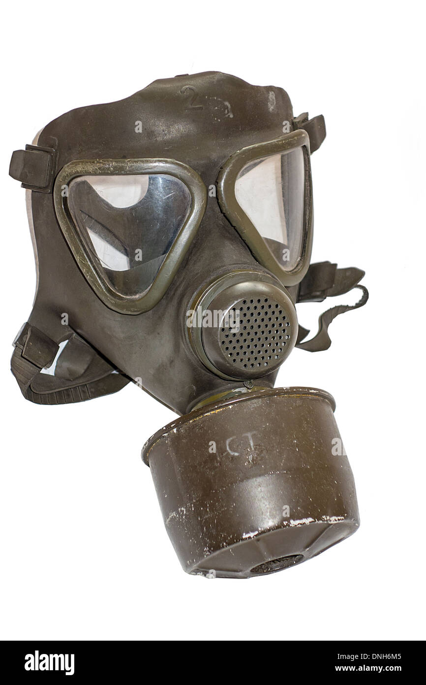 World War 2 Gas Mask 1940 1940s 40s - Stock Image