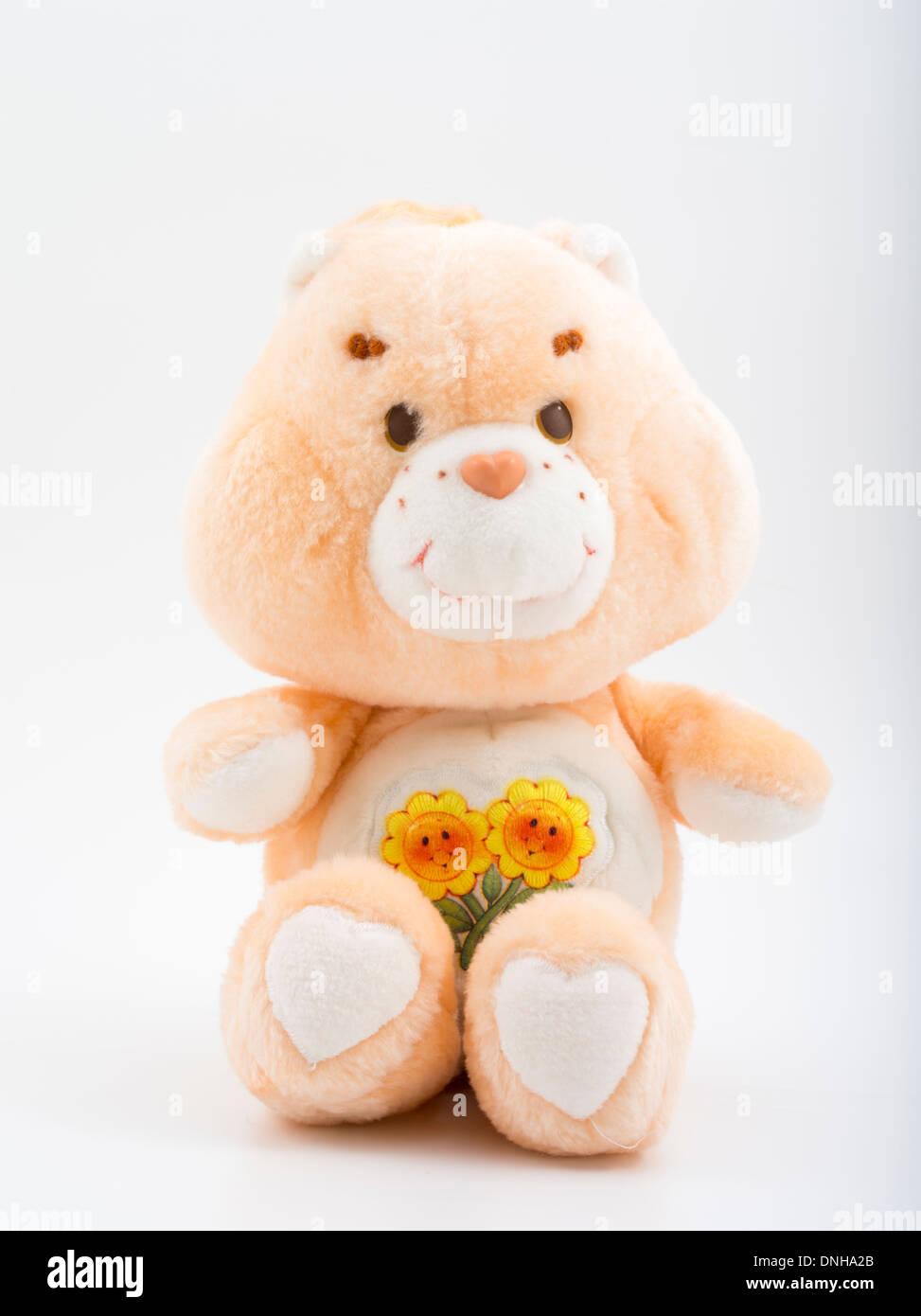VINTAGE KENNER 1983 CARE BEARS plush doll ' FRIEND BEAR ' - Stock Image