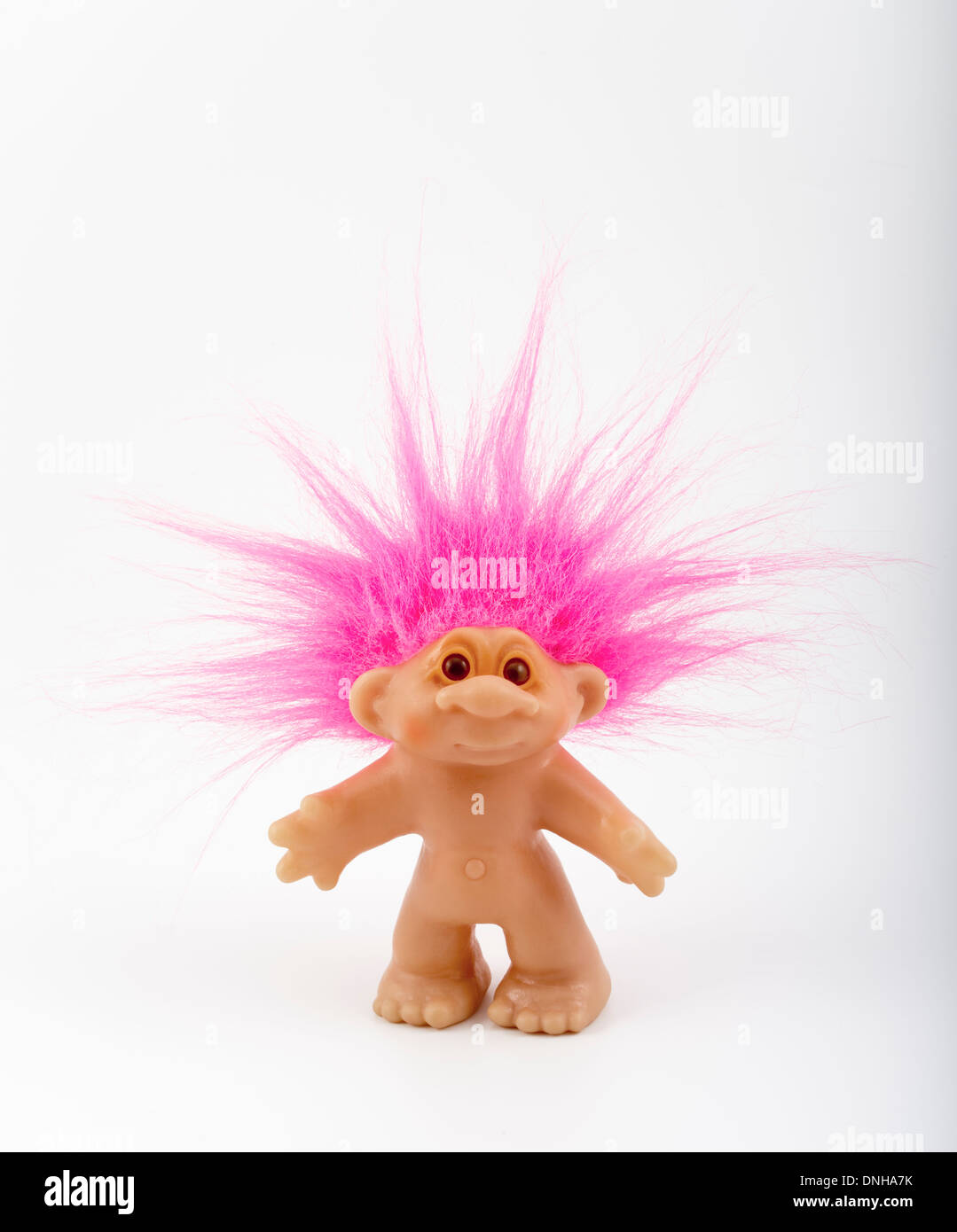Troll Doll aka Dam Doll first created 1959 by Thomas Dam. Stock Photo