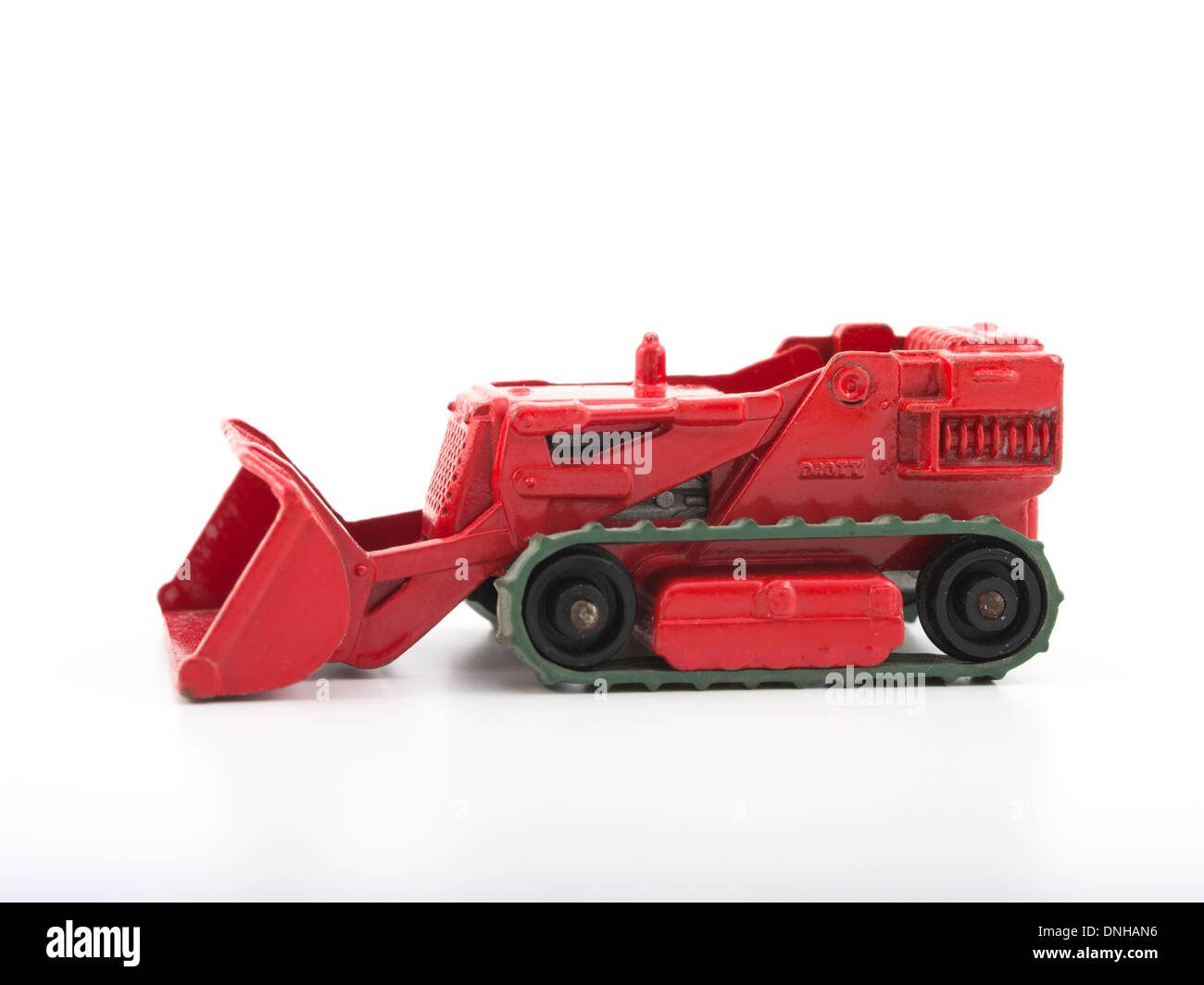 Matchbox Die-cast Toy Cars - Red Digger Produced by Lesney Products United Kingdom from 1953 onwards. - Stock Image
