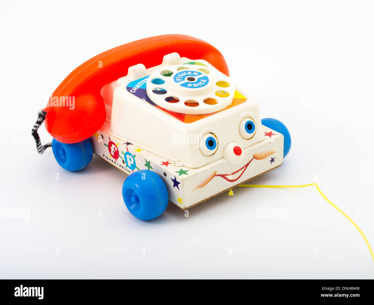 Fisher-Price ( Fisher Price ) Chatter Telephone toddlers pull toy telephone with rotary dial. from 1962 - Stock Image