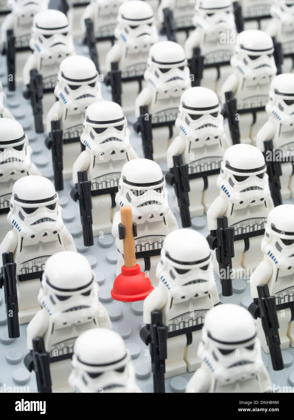 Star Wars Lego Minifigure Toys Stormtrooper - Stock Image