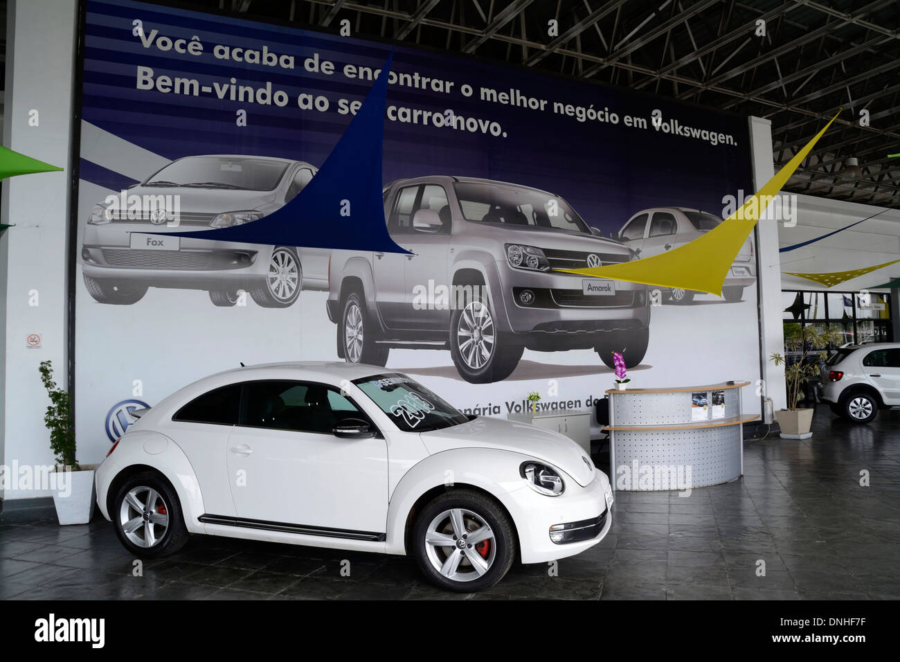 New Cars At A Volkswagen Dealership In Rio De Janeiro