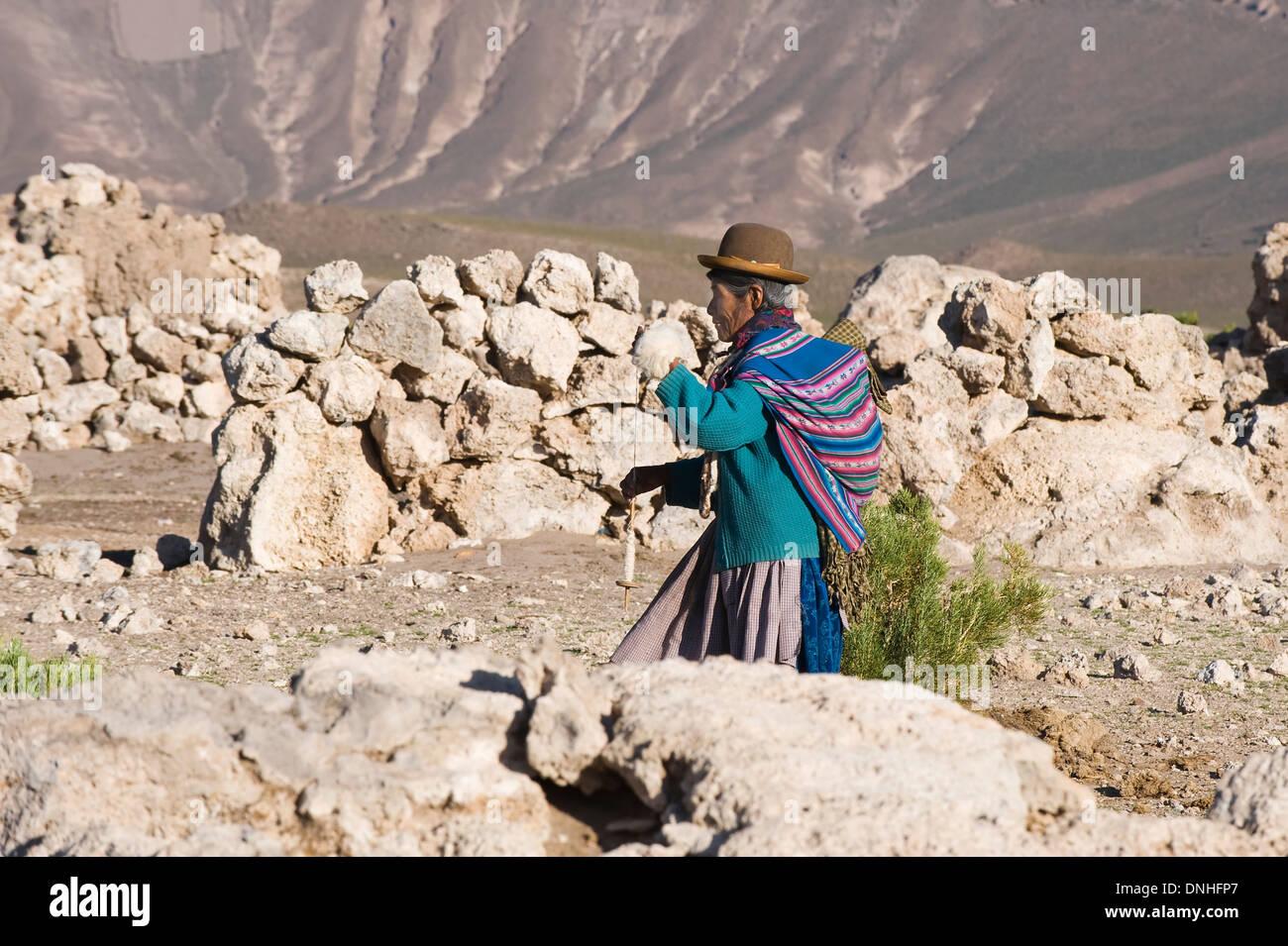 9a57f50fb102d Llama Herdswoman wearing a bowler hat also called Bombin