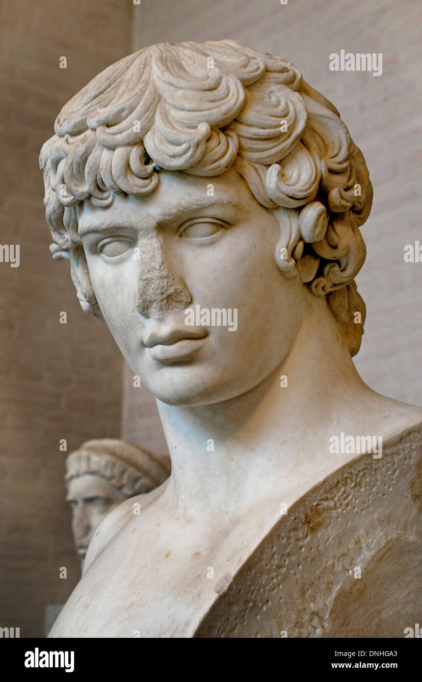 Antinous 111 – 130 was a Bithynian Greek youth and a favorite of the Roman emperor Hadrian - Stock Image