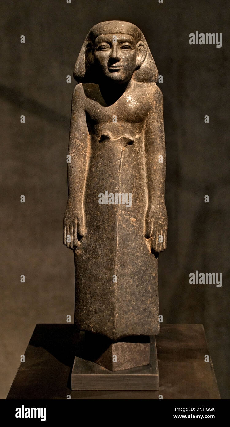 Standing striding figure of a man wearing a long Kilt 13 Dynasty 1750 BC  Egypt Egyptian - Stock Image