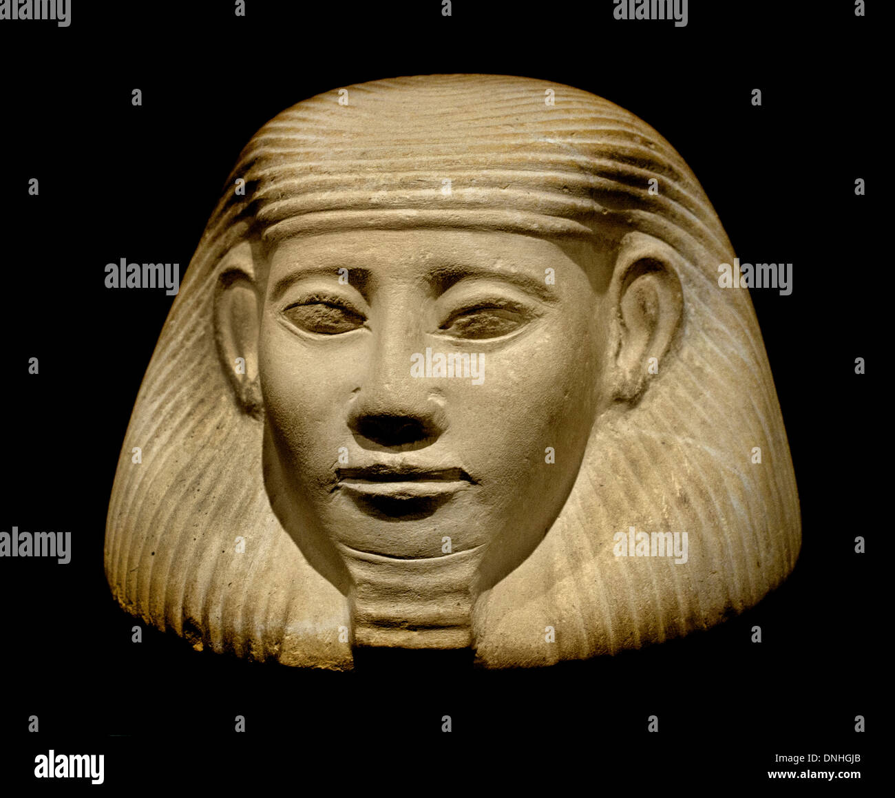 Lid from viscera ( canopic ) jar 1850 BC Egypt Egyptian - Stock Image