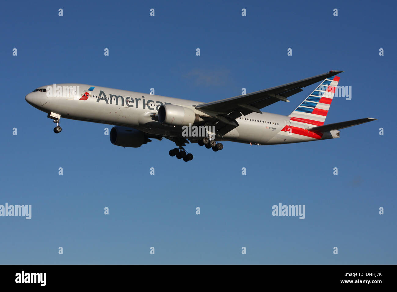 AMERICAN AIRLINES USA BOEING 777 - Stock Image