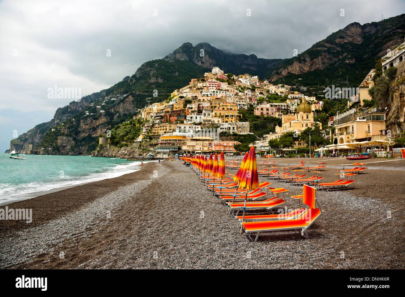 Swell Lounge Chairs On The Beach Positano Amalfi Coast Campania Ncnpc Chair Design For Home Ncnpcorg