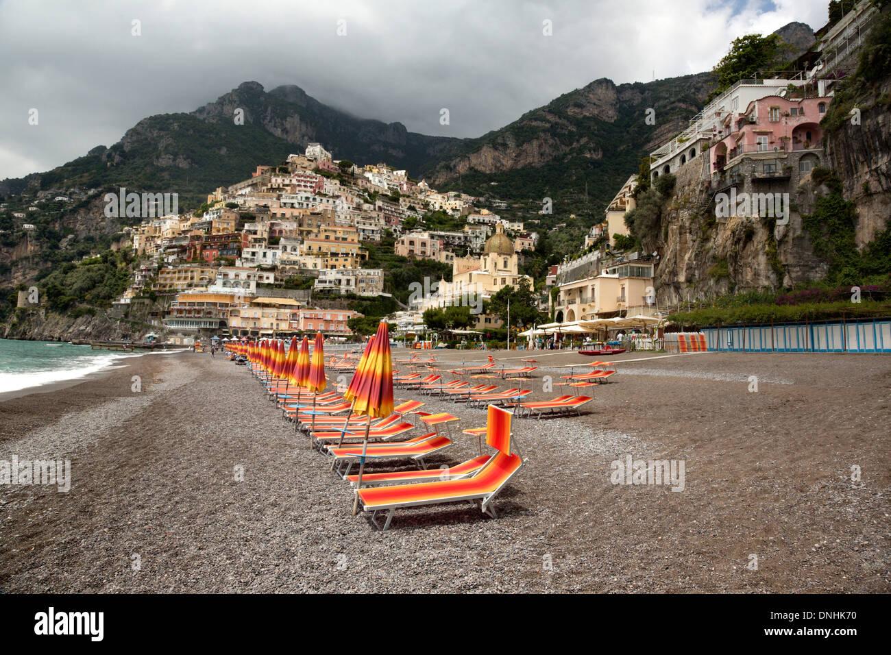 Wondrous Lounge Chairs On The Beach Positano Amalfi Coast Campania Ncnpc Chair Design For Home Ncnpcorg