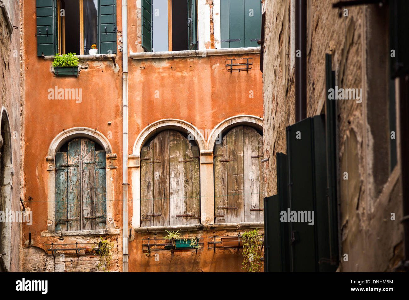 Low angle view of a old building, Venice, Veneto, Italy Stock Photo
