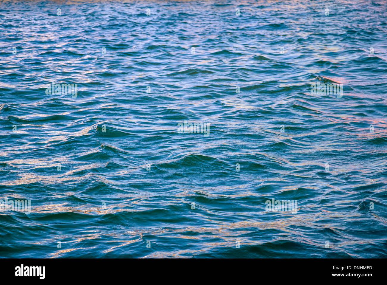 Waves in the sea, Barcelona, Catalonia, Spain Stock Photo