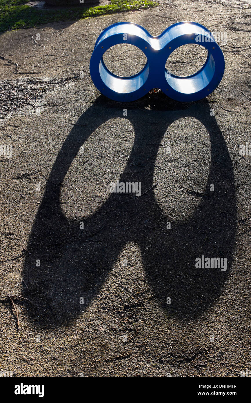 A Large Infinity Symbol Shaped Climbing Apparatus For Children Stock