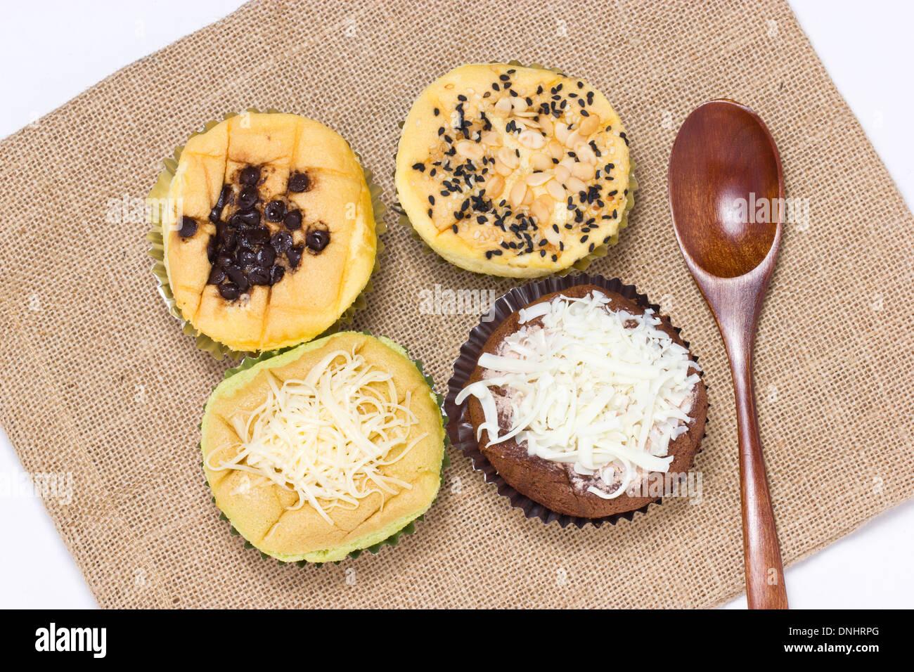 Philippines sponge cake call mamon. - Stock Image