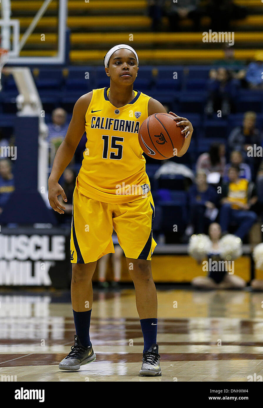 Berkeley, CA, USA. 29th Dec, 2013. Dec 29 2013 - Berkeley CA USA California Bears G # 15 Brittany Boyd during NCAA Womens Basketball game between Lafayette College Leopards and California Golden Bears 77-60 win at Hass Pavilion Berkeley Calif © csm/Alamy Live News - Stock Image