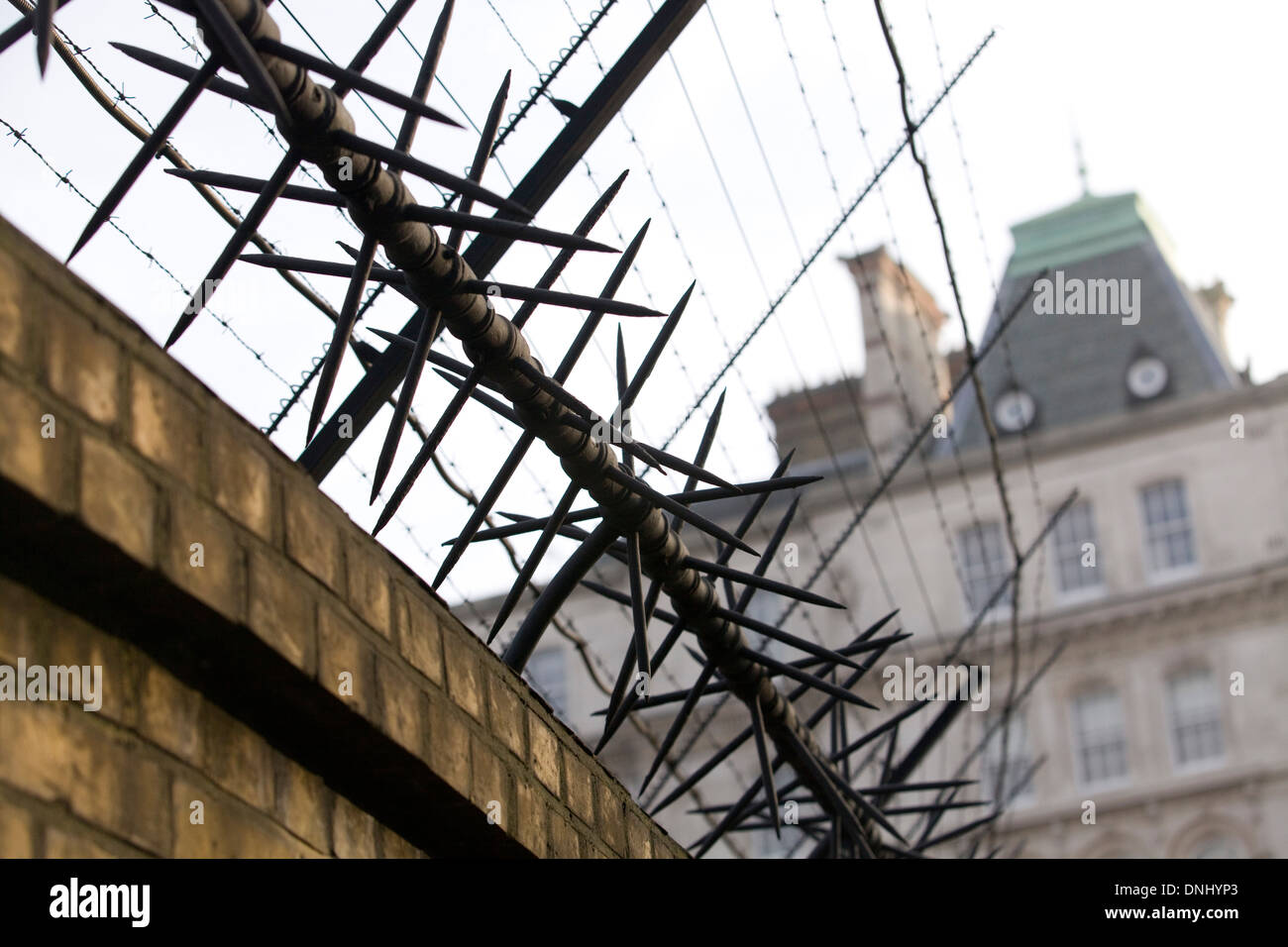 Metal Fence Spikes Wire Stock Photos & Metal Fence Spikes Wire Stock ...