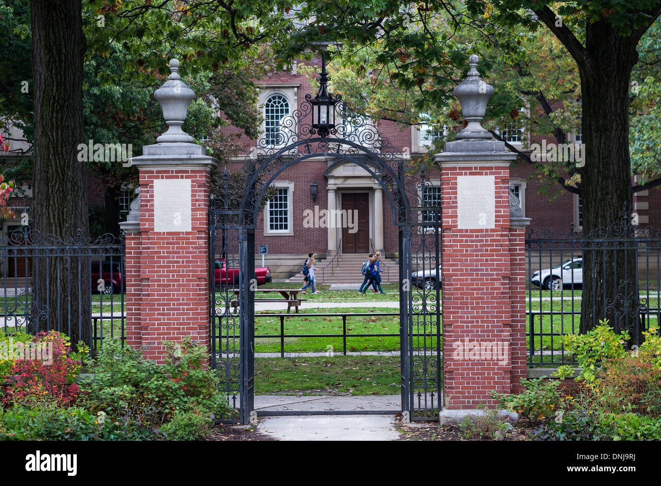 The Symmes Gate on the campus of Williams College, Williamstown, Massachusetts, USA - Stock Image