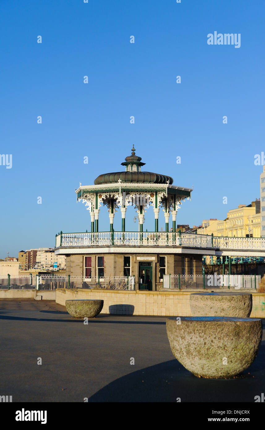 Brighton bandstand UK on the seafront - Stock Image