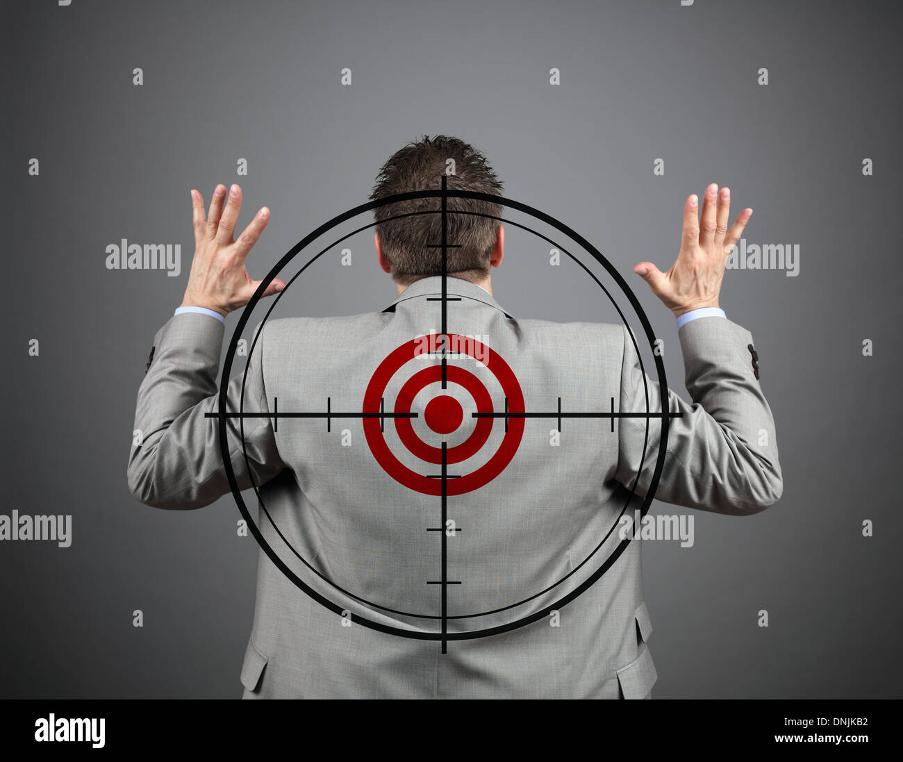 I surrender - Stock Image