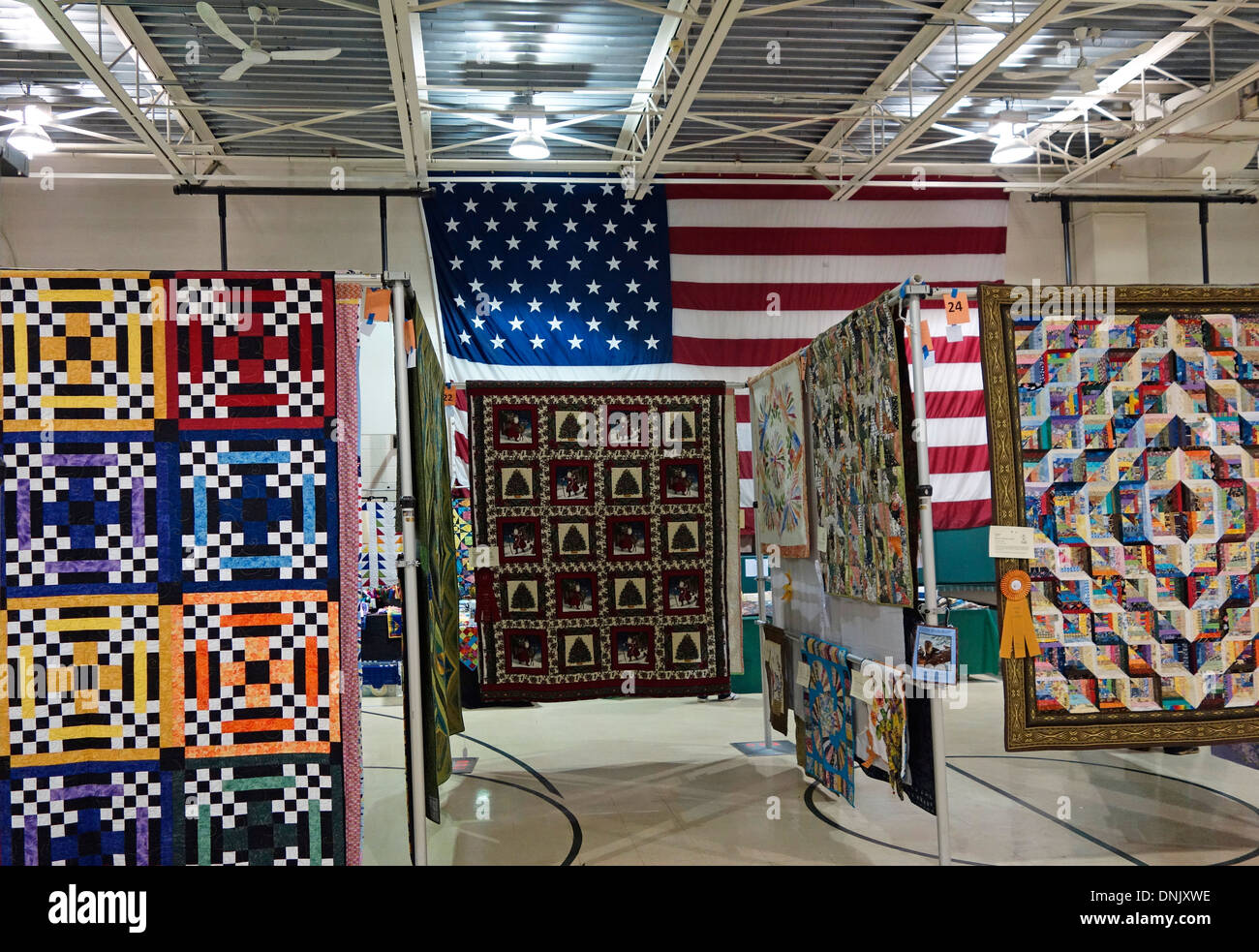 Quilt show in Mineola New York - Stock Image