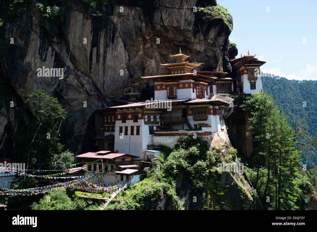Taktsang monastery in Paro, Bhutan. Also known as Tiger's Nest - Stock Image