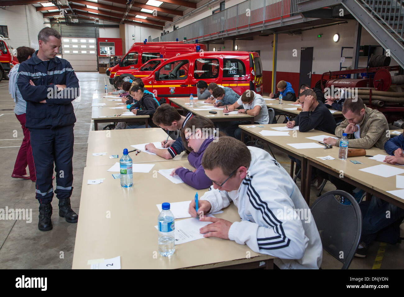 WRITTEN EXAM OF THE TEST IN THE VOLUNTEER FIREFIGHTERS DEPARTMENT
